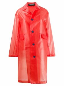 UNDERCOVER star button raincoat - Red