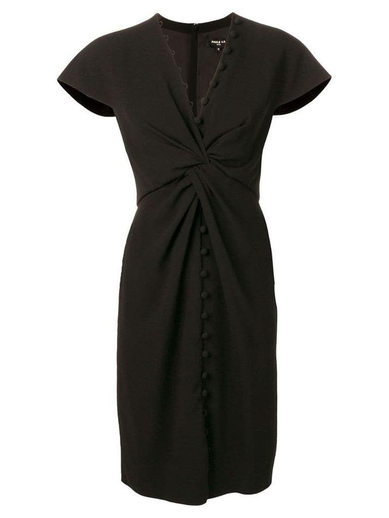 Paule Ka knot detail dress - Black