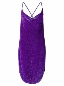 Retrofete sequined slip dress - PURPLE