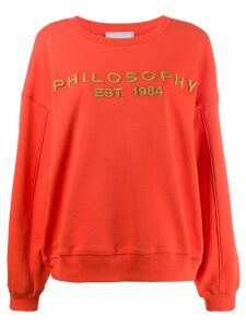 Philosophy Di Lorenzo Serafini logo relaxed fit sweatshirt - Orange