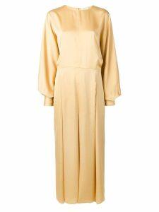Nina Ricci pleated maxi dress - Yellow