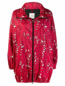 Moncler oversized zip jacket - Red