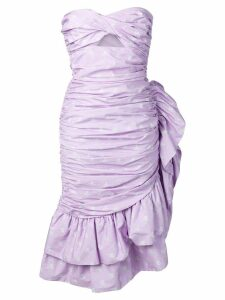 Vivetta strapless ruffle dress - Purple