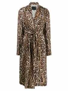 R13 leopard print trenchcoat - Brown