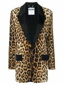 Moschino leopard print blazer - Neutrals