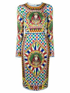 Dolce & Gabbana fitted midi dress - Red