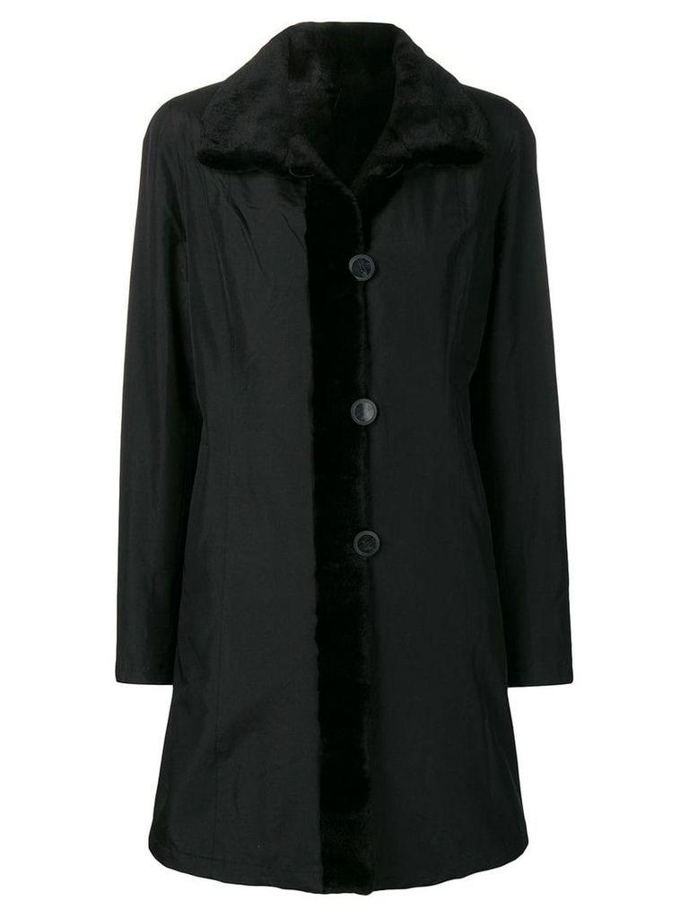 Liska reversible single-breasted coat - Black