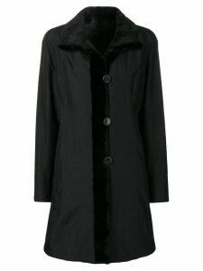 Liska reversible single-breasted coat - Black