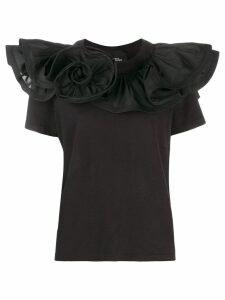Marc Jacobs ruffled collar T-shirt - Black