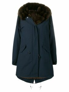 Liska fur lined parka coat - Blue