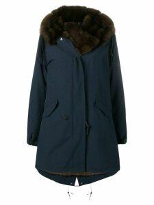 Liska fur lined parka coat - Blue