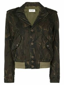 Saint Laurent military bomber jacket - Green