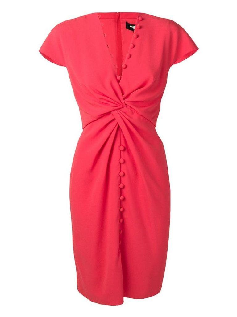 Paule Ka knot detail dress - Pink