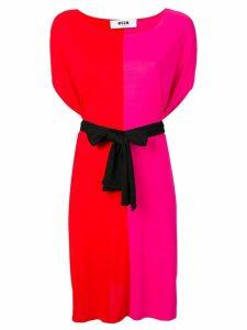 MSGM split-tone day dress - Red