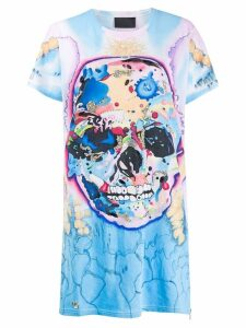 Philipp Plein skull T-shirt dress - Blue