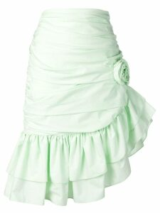 Vivetta asymmetric ruffle skirt - Green