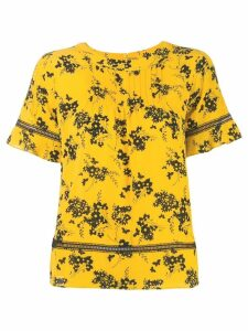 Michael Michael Kors floral printed blouse - Yellow