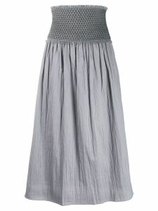 Toteme Safara ruched waist skirt - Grey