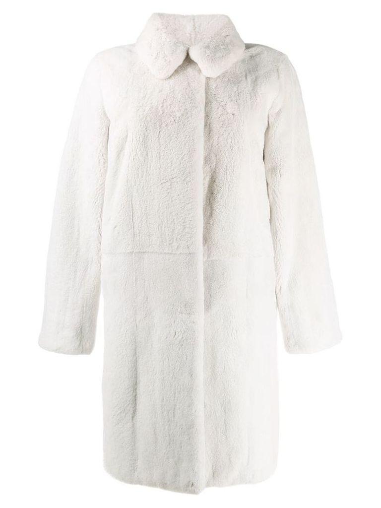 Liska collared coat - White