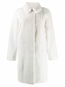 Liska collared coat - White