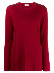 'S Max Mara classic pullover with pockets - Red
