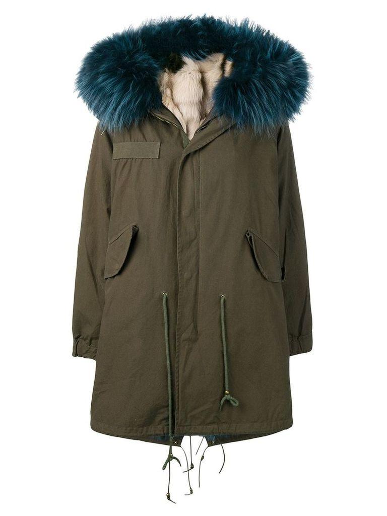 Liska fox fur parka coat - Green