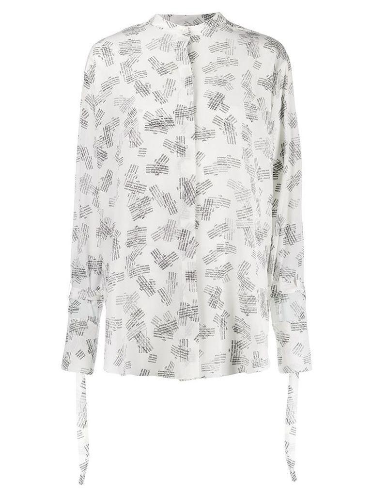 Rokh logo stamped blouse - White