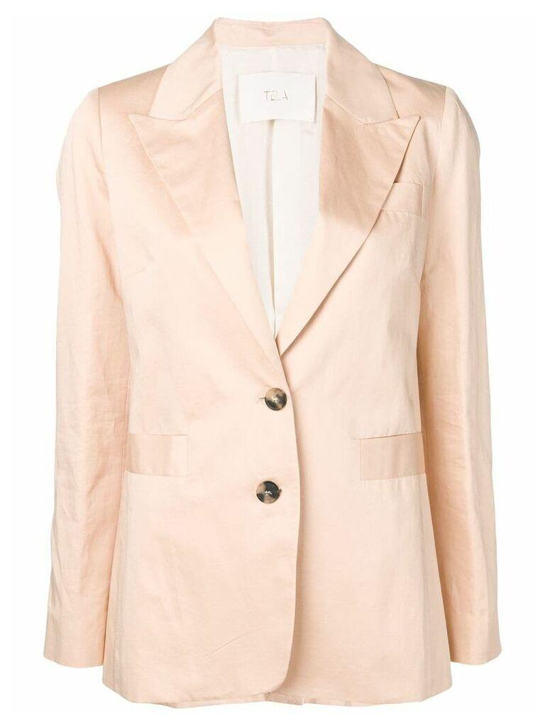 Tela classic single-breasted blazer - Neutrals