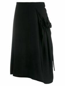 Y's asymmetrical skirt - Black