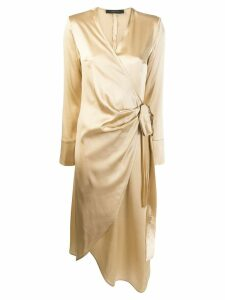 Federica Tosi wrap dress - Gold