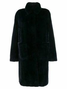 Liska collared coat - Blue