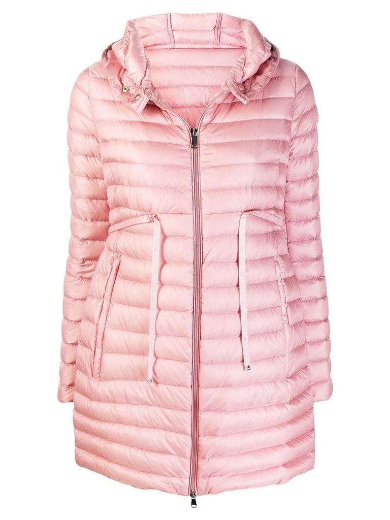 Moncler hooded padded coat - Pink
