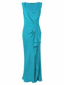 Alberta Ferretti draped gown - Blue