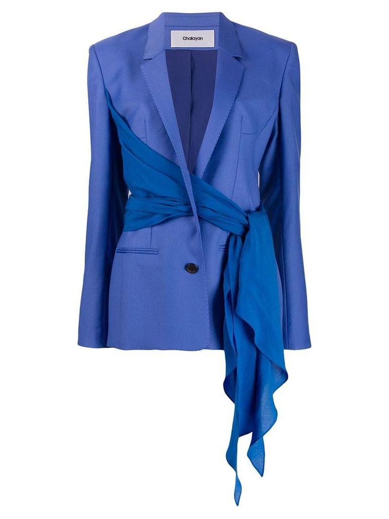 Chalayan wrap blazer jacket - Blue