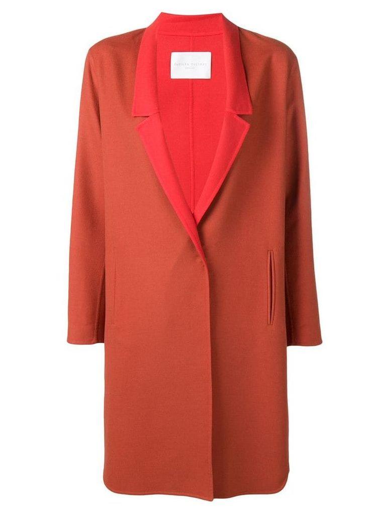 Fabiana Filippi single breasted overcoat - Red