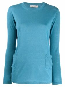'S Max Mara classic pullover with pockets - Blue