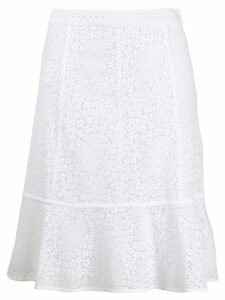 Michael Michael Kors embroidered floral skirt - White