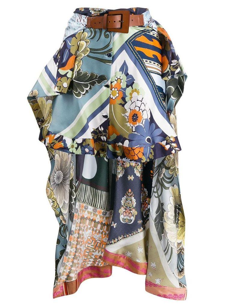 Chloé printed asymmetric skirt - Blue