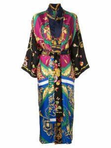 Rianna + Nina baroque print kimono - Black