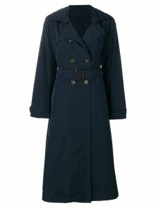 Max Mara belted double breasted trenchcoat - Blue