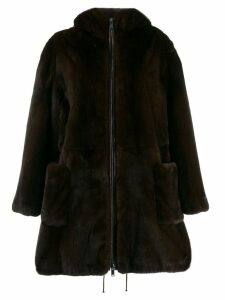 Liska hooded coat - Brown