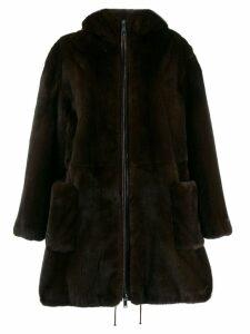 Liska hooded coat - Brown