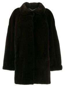 Liska collared coat - Brown