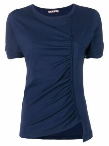 Marni ruched round neck T-shirt - Blue