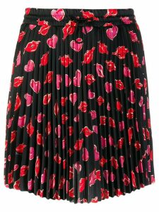 Moncler printed pleated skirt - Black