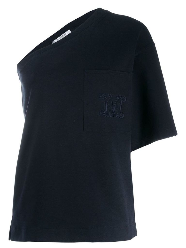Max Mara one-sleeve jersey T-shirt - Blue