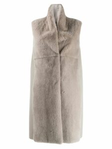 Manzoni 24 sleeveless coat - Grey
