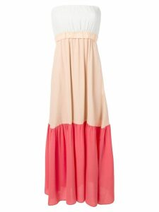 Semicouture flared maxi dress - Neutrals
