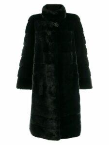 Liska buttoned midi coat - Blue