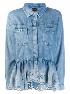 Twin-Set peplum denim shirt - Blue